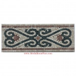 "Reese, Honed Mosaic Tile Listello 6.25""x15.75"""